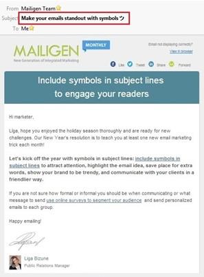 Mailigen email marketing campaign 1
